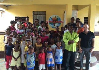 Gift giveaway in Haiti